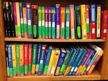 textbook shelf photo